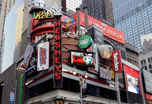 Loja Hershey's na Times Square em Nova York