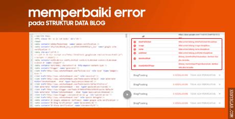 Memperbaiki Error Pada Struktur Data Blog