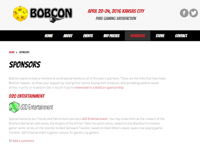 BobCon Sponsor d20 Entertainment