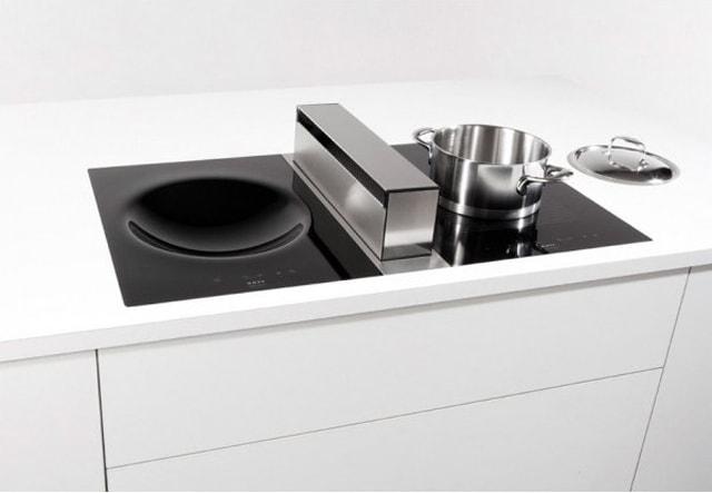 campanas extractoras de superficie aspiraci n discreta y eficiente cocinas con estilo. Black Bedroom Furniture Sets. Home Design Ideas