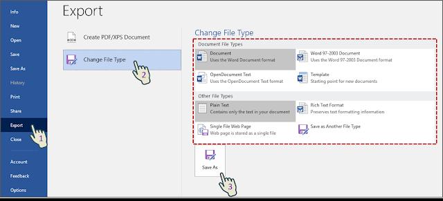 Cara 2 Menyimpan File Dalam Format File Alternatif Dengan Pengaturan Default