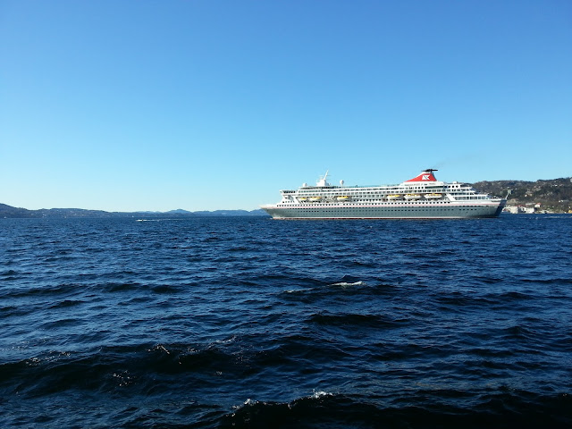 Fred Olsen cruise ship Balmoral in Bergen, Norway