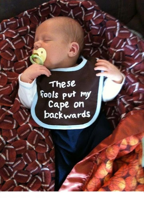 Hilarious Sleeping Cute Baby Cape Caption