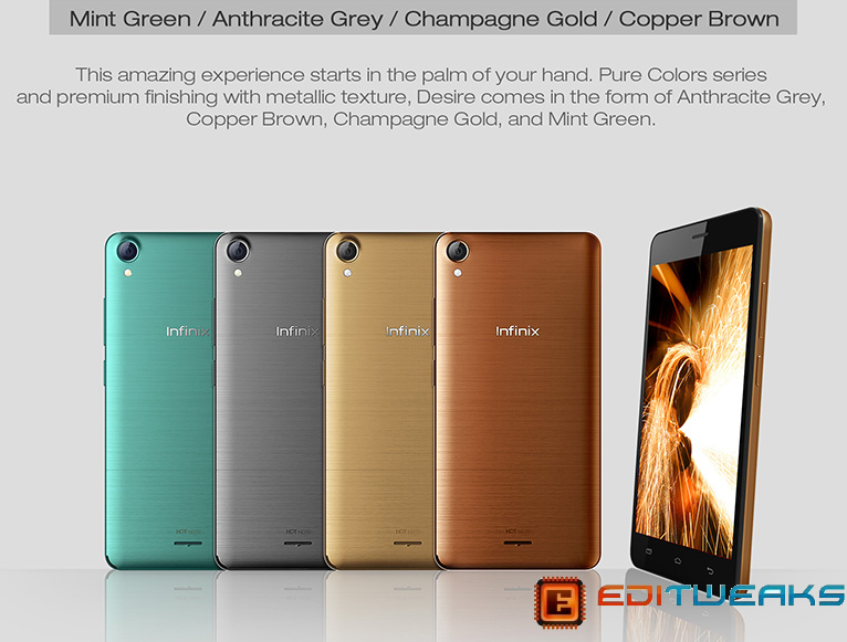 Infinix HOT NOTE colors