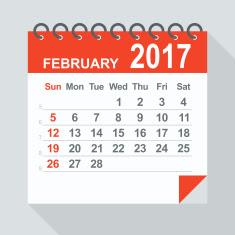 february 2017 calendar, february 2017 calendar with holidays, February 2017 printable calendar,February 2017 Blank calendar