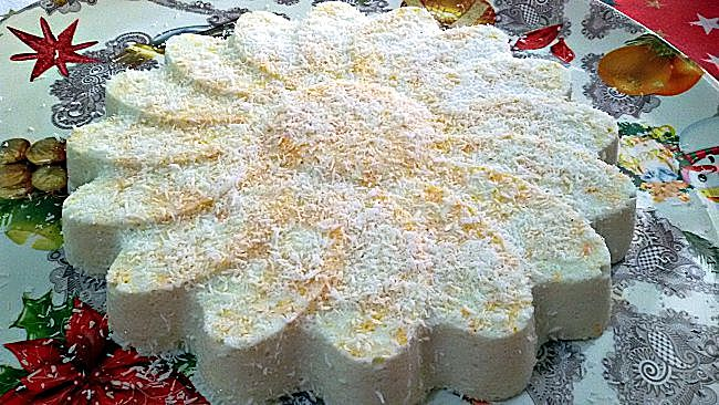 Gelatina de coco y naranja sin azúcar