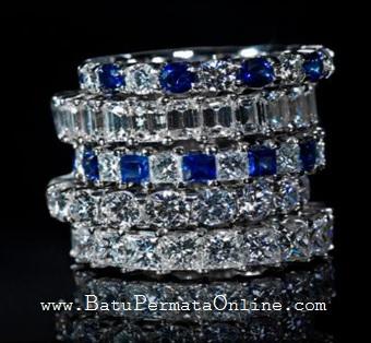 Cincin Berlian Desain Eternity
