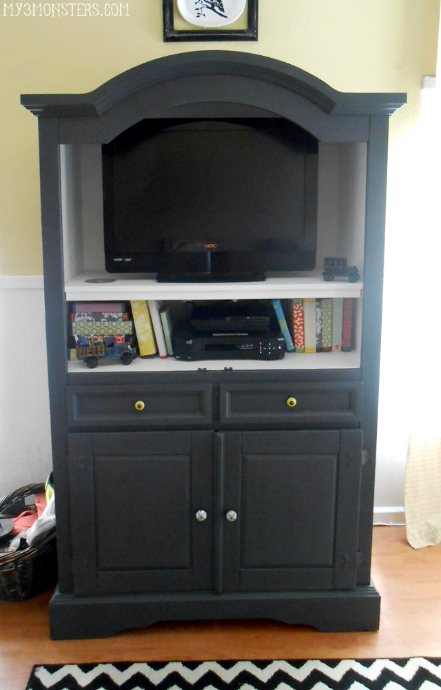 Armoire Painted with Chalk Paint
