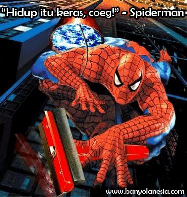 pekerjaan sampingan spiderman