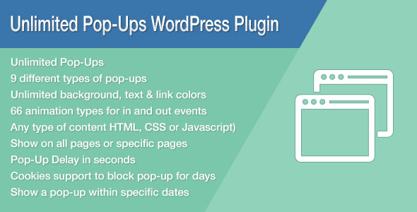 Free Download latest version of Unlimited Pop-Ups V1.4.3 WordPress Plugin