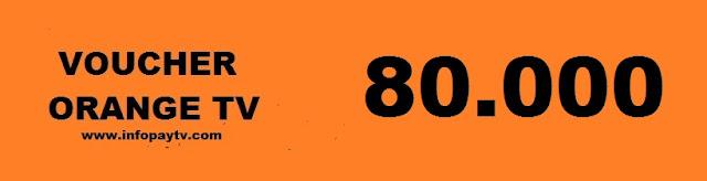 Voucher Orange TV 80 Ribu