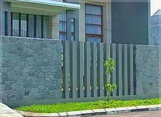 pagar batu alam cantik