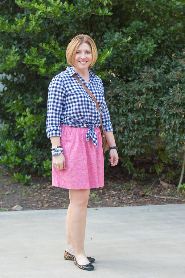 Transitioning with gingham