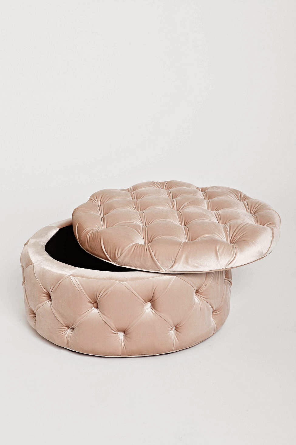 Mix And Chic Fabulous Finds Round Tufted Ottoman For