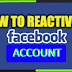 How Do I Reactivate My Facebook Account