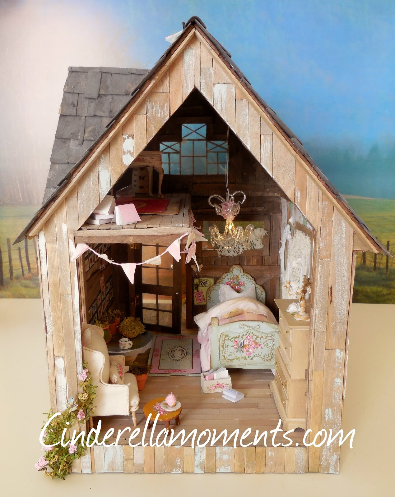 Cinderella Moments Butterfly Cottage Custom Dollhouse