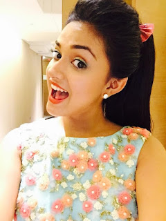Keerthy Suresh with Cute and Awesome Smile Latest Selfie
