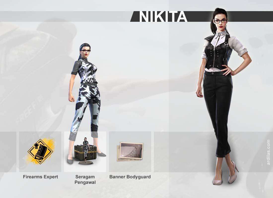 Nikita Karakter Di Game Free Fire