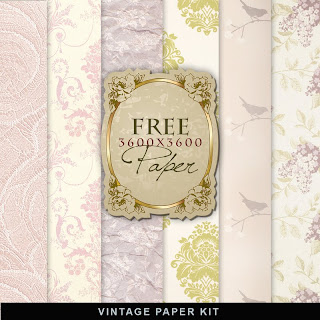 Freebies Vintage Paper Kit