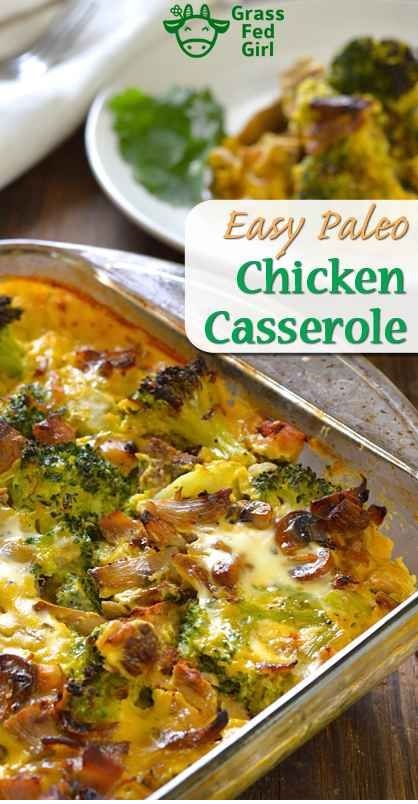 Easy keto And Low Carb Chicken Broccoli Casserole