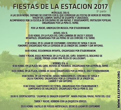 Programa de fiestas de la Estación 2017