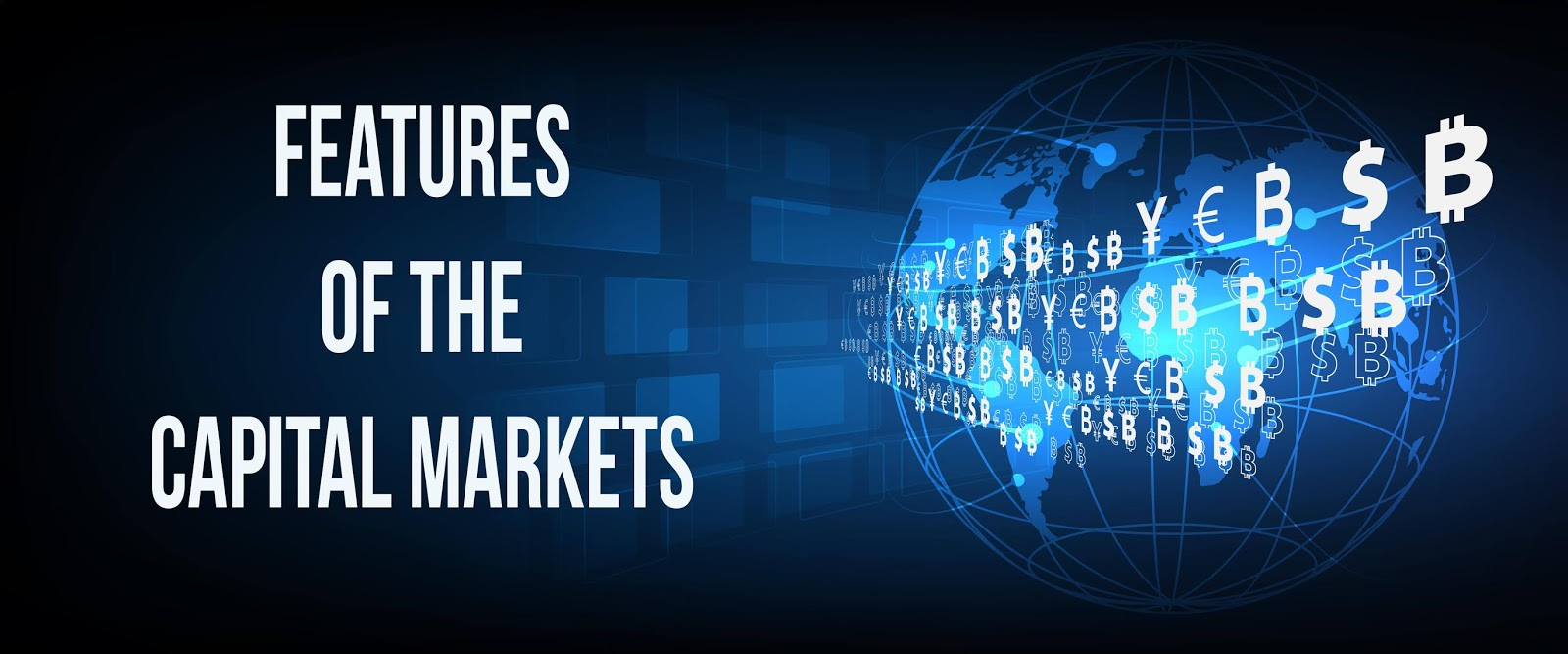 Capital Markets with a rendition of various currencies
