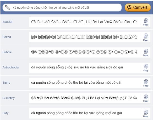 Hướng dẫn tạo kiểu chữ độc lạ trên Facebook 2