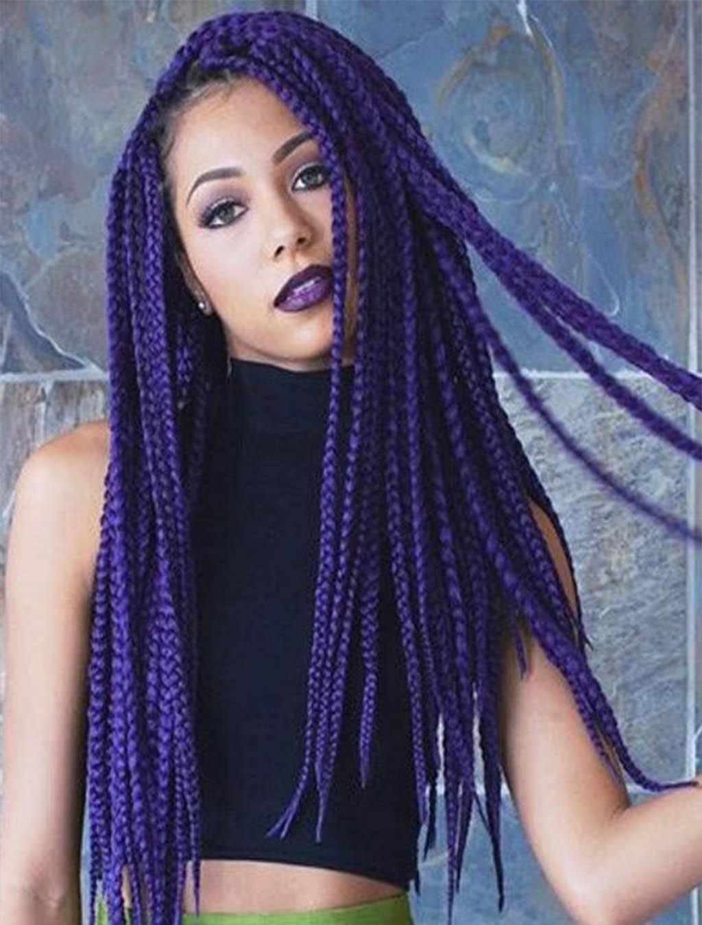 Trenzas Africanas De Colores Juveniles De Moda Super