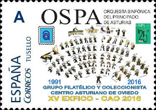 Sello personalizado de la EXFICO-CAO, Centro Asturiano 2016