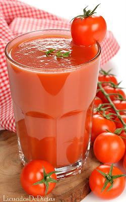 Como hacer jugo de tomate para adelgazar