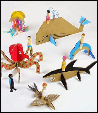 Mainan Edukatif 3 Dimensi Dari Kardus Bekas Inilah Caranya
