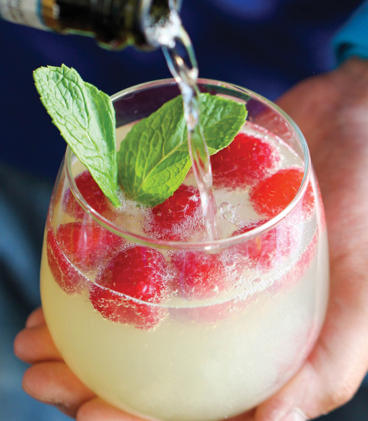 RASPBERRY LIMONCELLO PROSECCO #raspberry #drink