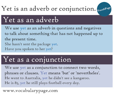 Yet is adverb or conjunction