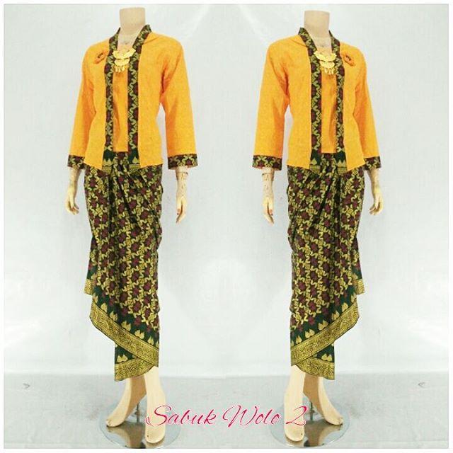 Jual Kebaya Rok Blouse Model Modern Terbaru Sabuk Wolo