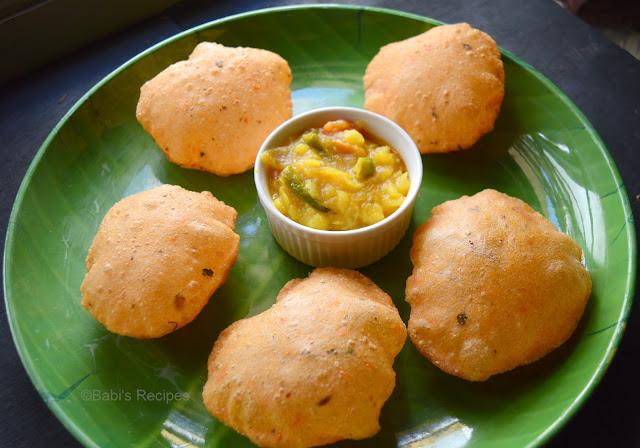 Tomato Puri/Poori | Tomato Masala Poori | Breakfast Recipe