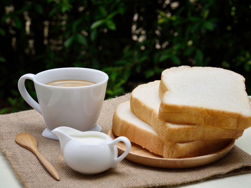 Download Sliced Loafs Beside White Ceramic Coffee Cup HD wallpaper. Click Visit page Button for More Images.