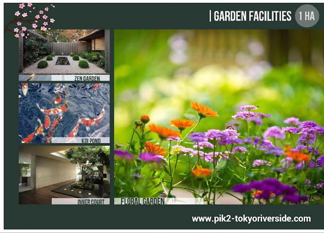 Garden facilites @ Tokyo Riverside Apartment PIK 2