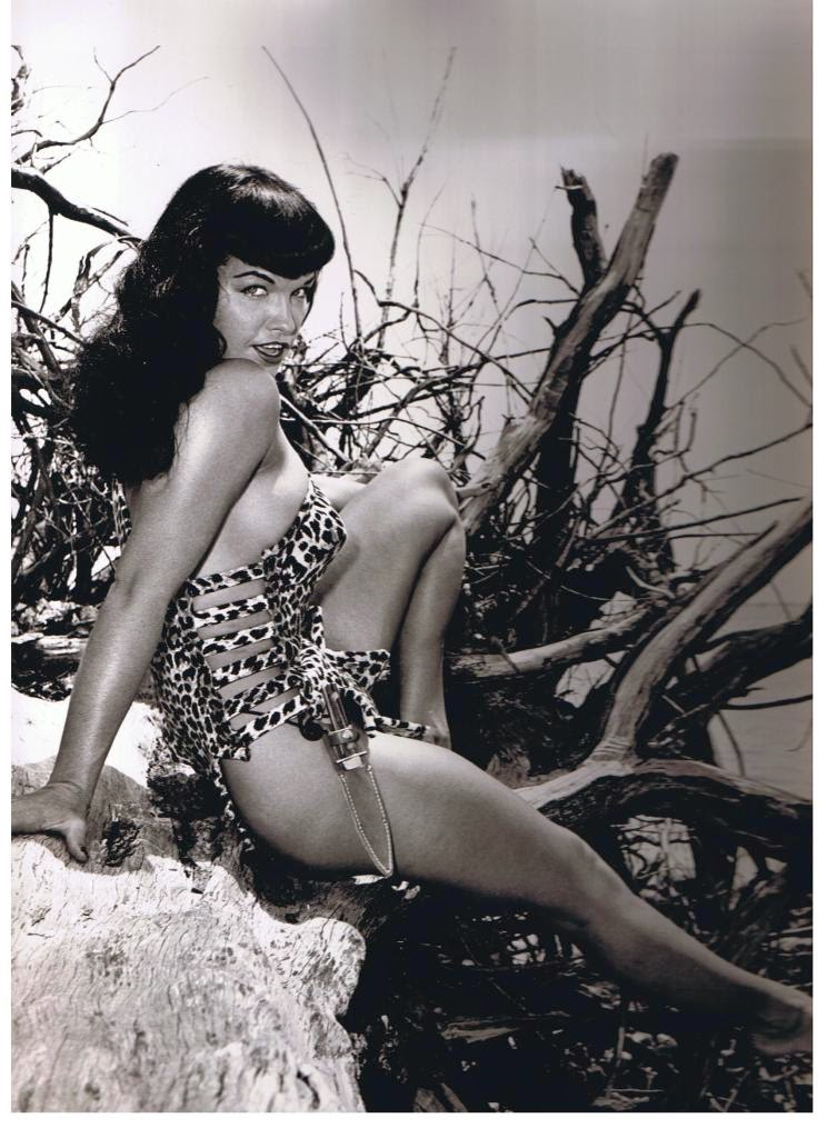 Bettie Page Bunny Yeager sexy leopard jungle outfit