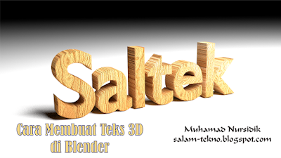 tutorial blender membuat 3d teks