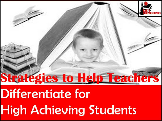 10 strategies to help teachers differentiate for high achieiving students - provided by Heidi Raki of Raki's Rad Resources.