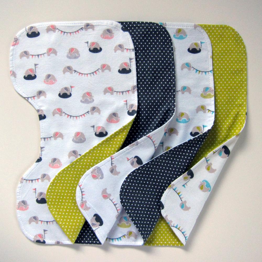 Burp cloth tutorial: easy way to make burp cloths for baby.