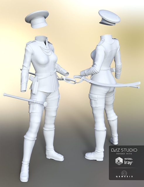 El Comandante - Officer Outfit for Genesis 3 Female