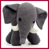 Elefantito a crochet