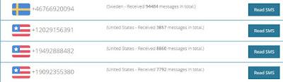 الحصول على رقم مجاني لاستقبال رسائل SMS ولتفعيل حساباتك
