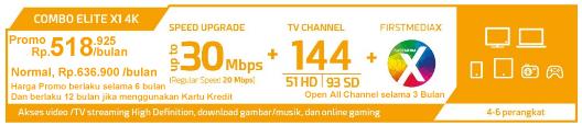 Paket Combo Elite X1 4K HD- WIFI - First Media Promo Juli 2018 Global Offer