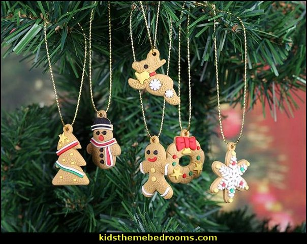 Christmas Pendant Gingerbread Silicone Hanging Ornaments Christmas party Decorations