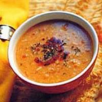 طريقة عمل فتة العدس المصرية بالخل والتوم Lentil soup