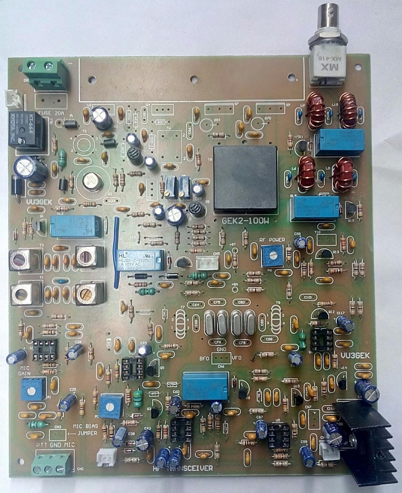 Home Brew Corner: GEK SSB HF Transceiver