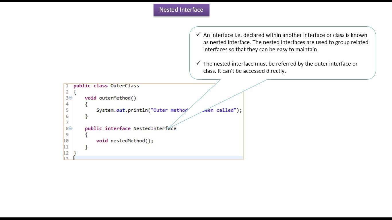 Java ee java tutorial java nested interfaceinside class java tutorial java nested interfaceinside class baditri Image collections