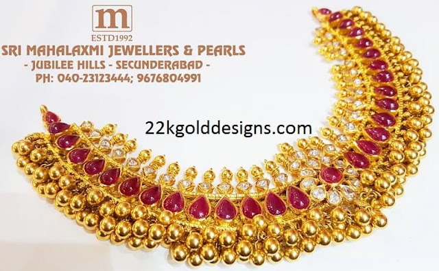 Ruby Gold Tussi Necklace